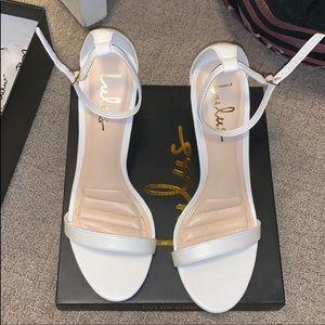 NWOT white heels